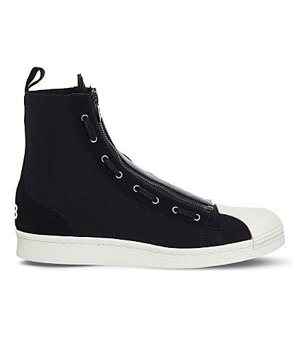 c0b785a99869 ... ADIDAS Y3 Y3 pro zipper neoprene and suede high-top sneakers  (Black+ecru. PreviousNext