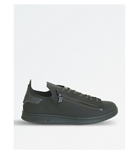 4c3e3b60a ADIDAS Y3 Stan Zip leather trainers (Khaki+matt
