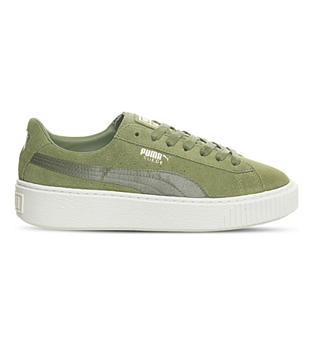 best loved 7b919 0c7ca PUMA - Suede platform trainers | Selfridges.com