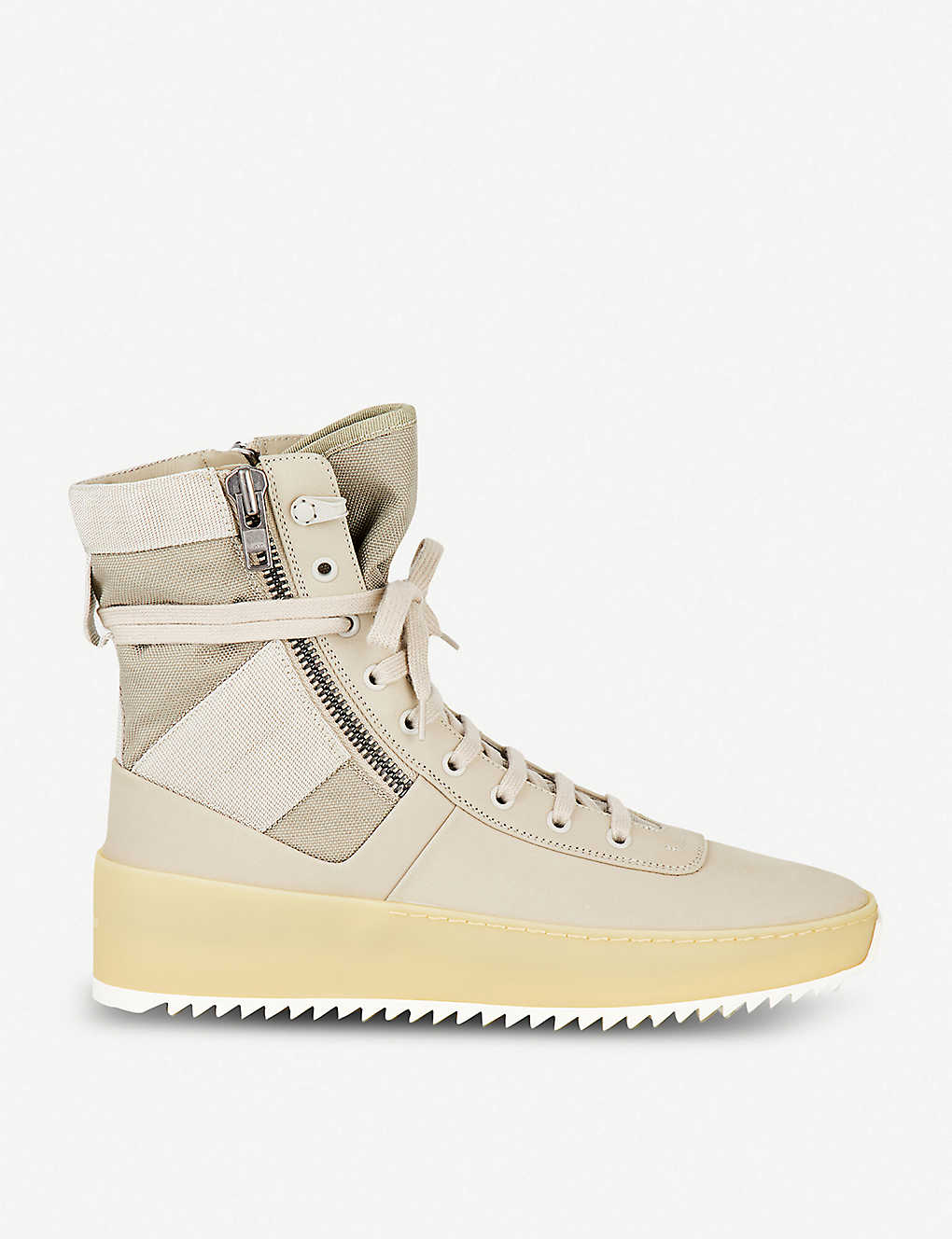timeless design b5886 dc2f1 FEAR OF GOD Perla OG Jungle nubuck and mesh trainers
