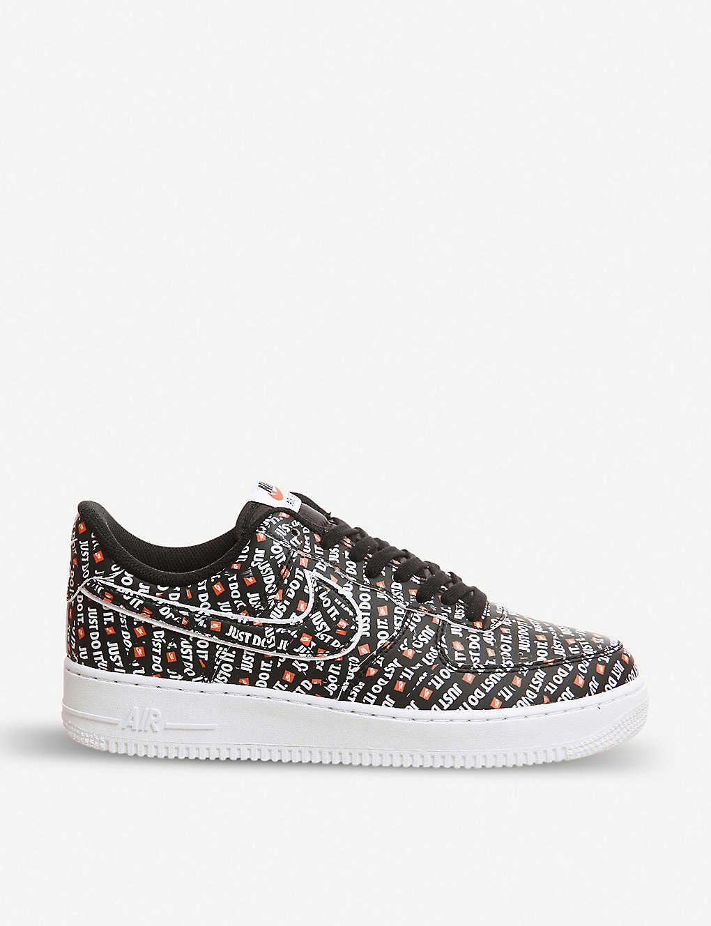 f332a9c32937d NIKE - Air Force 1 07 Just Do It leather trainers   Selfridges.com