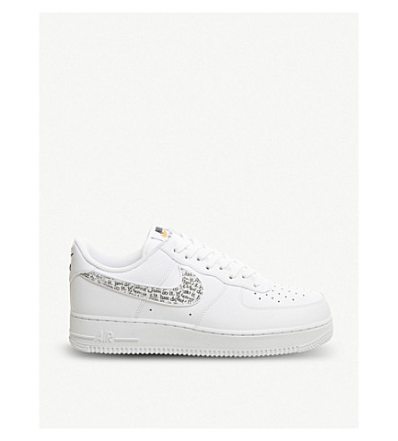 premium selection 7d369 960ee ... NIKE Air Force 1 07 leather trainers (White+black+orange. PreviousNext