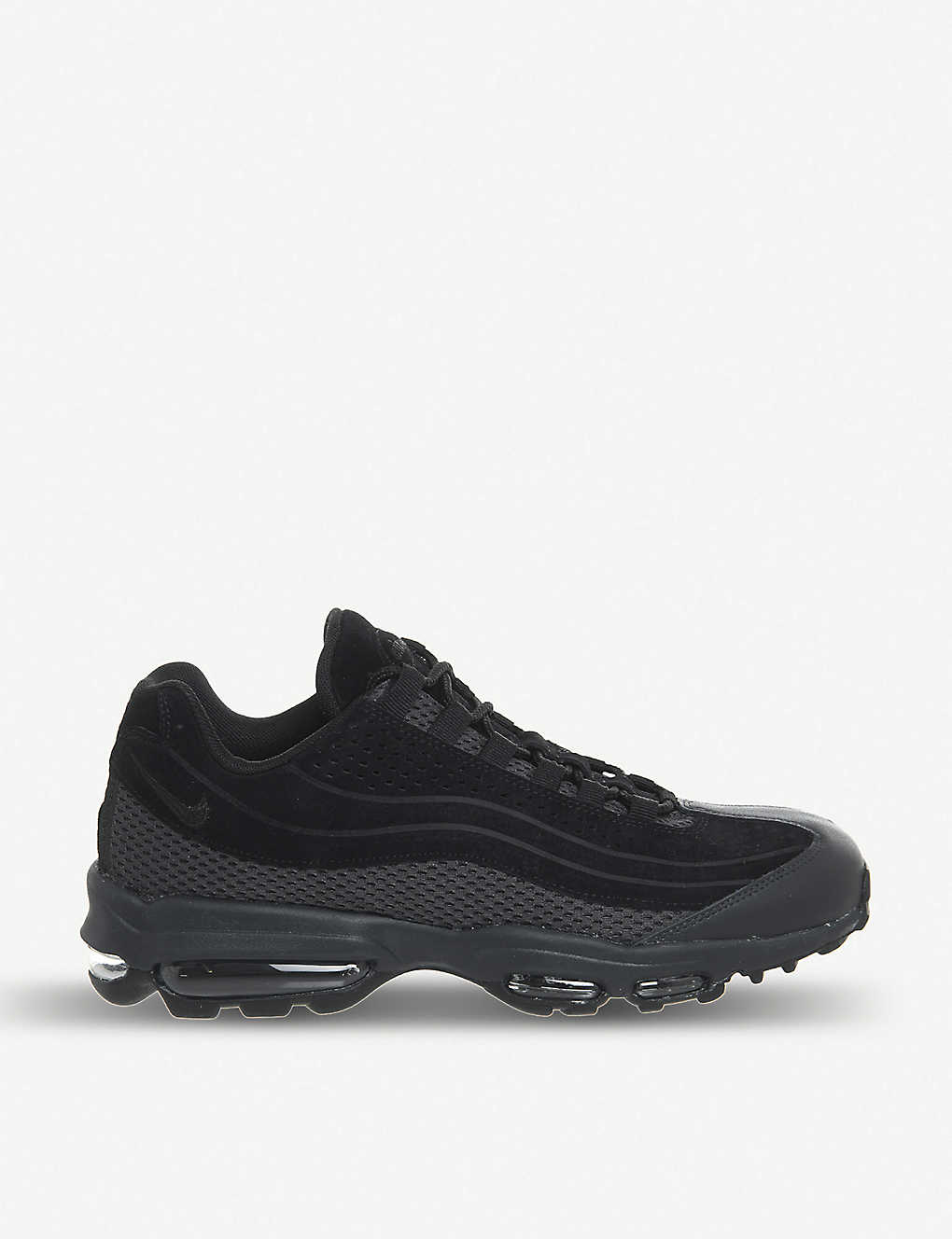 detailed look 96535 3a199 Air Max 95 Ultra suede and mesh trainers - Black ...