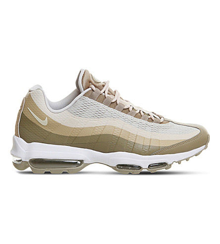 super popular ffd46 a450c NIKE Air Max 95 Ultra leather and textile trainers (Khaki+oatmeal+linen