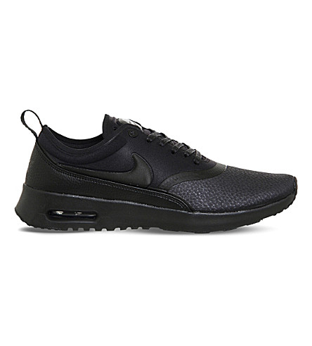 b0db6002ce ... NIKE Air Max Thea leather trainers (Black+cool+grey. PreviousNext