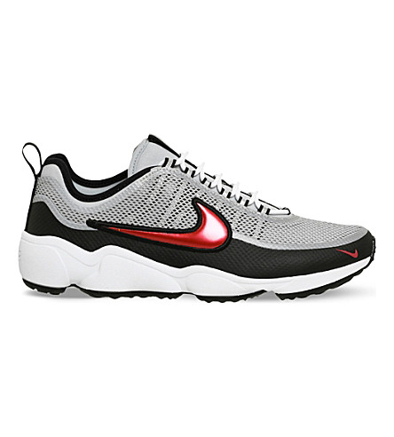 NIKE Zoom Spiridon leather and mesh trainers (Metallic+silver+red 4473c478e