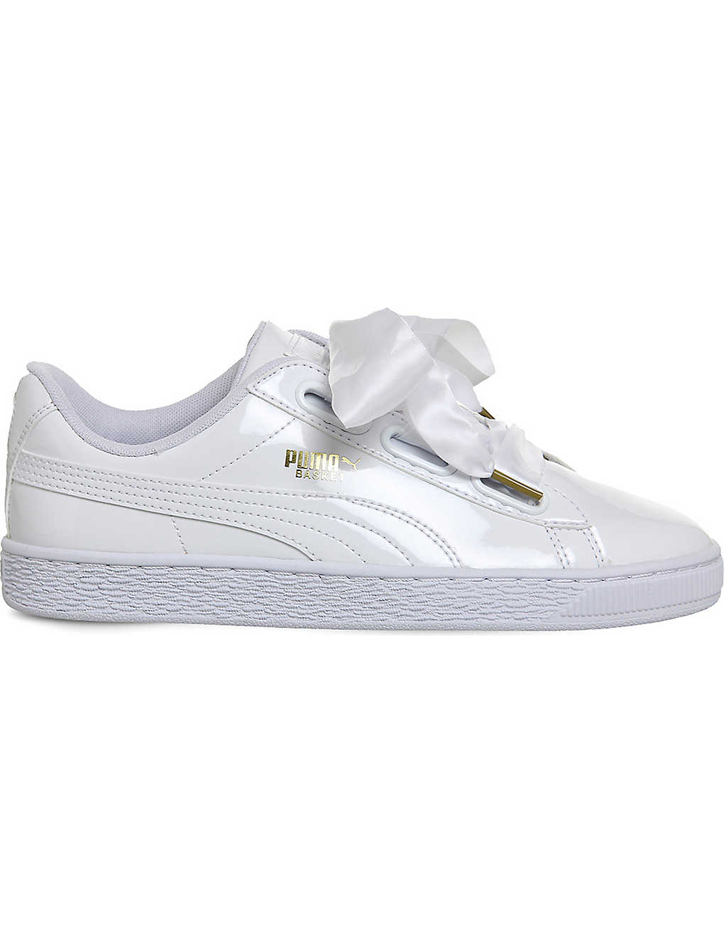 new arrival 71253 929e5 PUMA Basket Heart patent-leather trainers