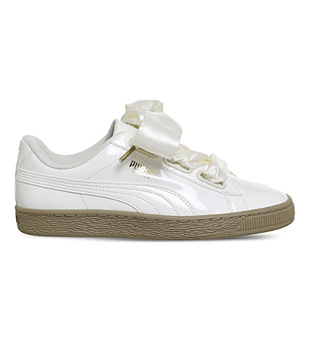... PUMA Basket heart patent trainers (Marshmallow+patent. PreviousNext 383d7b2c8