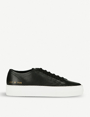 COMMON PROJECTS Tournament flatform leather trainers