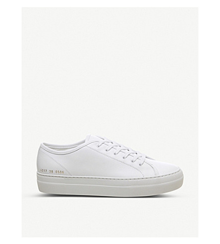c61e3ef21cde COMMON PROJECTS - Tournament Super leather low-top trainers ...