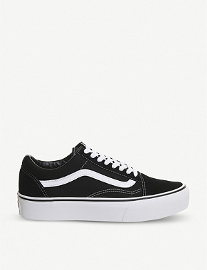 VANS Old Skool Platform canvas and suede platform trainers