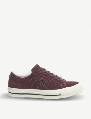 CONVERSE One Star suede trainers