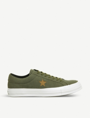 CONVERSE One Star corduroy low-top trainers