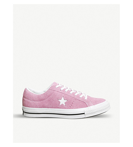 389af6203366a2 CONVERSE One Star low-top suede trainers (Light+orchid+white