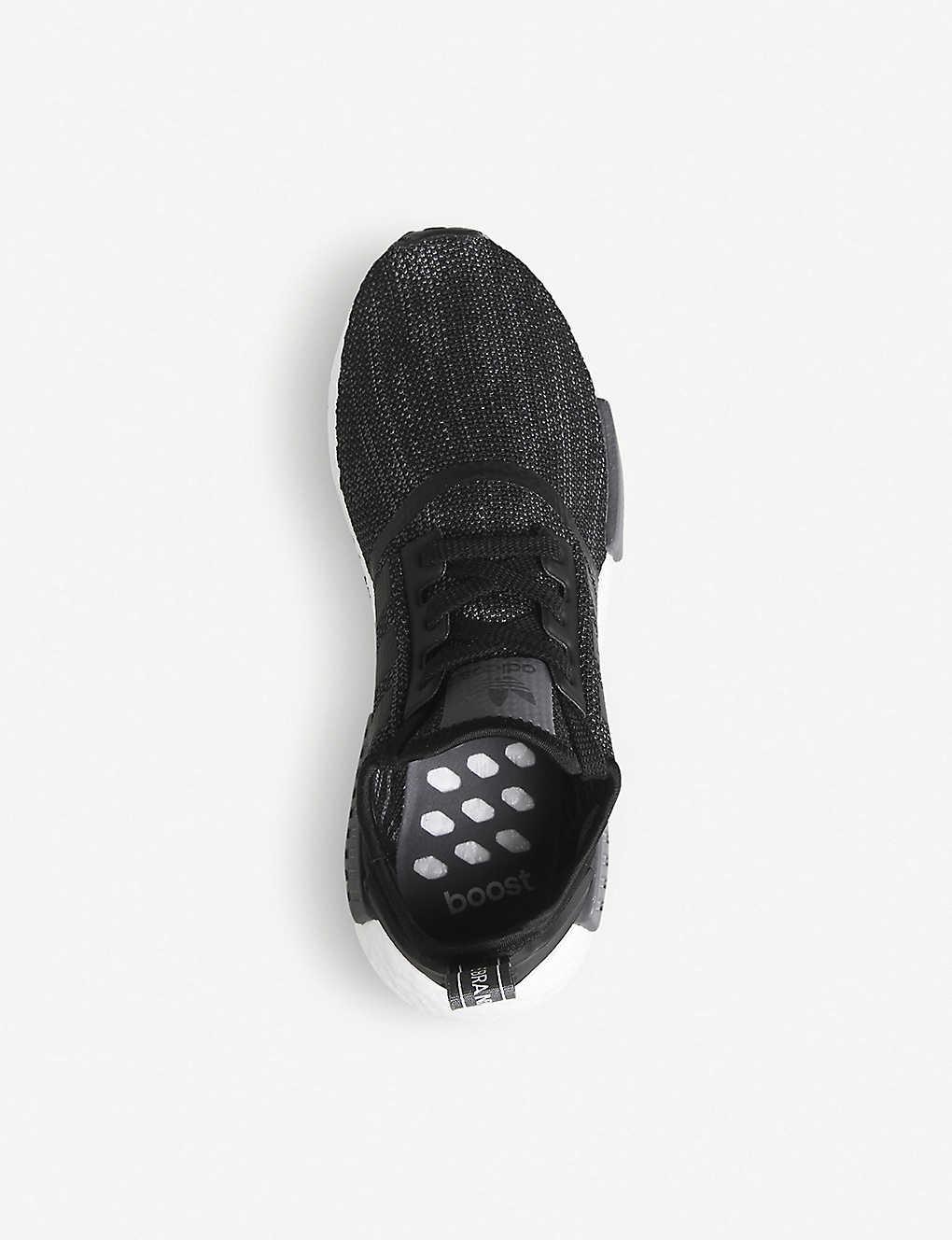 81cedd0a3a523 ... NMD R1 Primeknit trainers - Core black grey ...