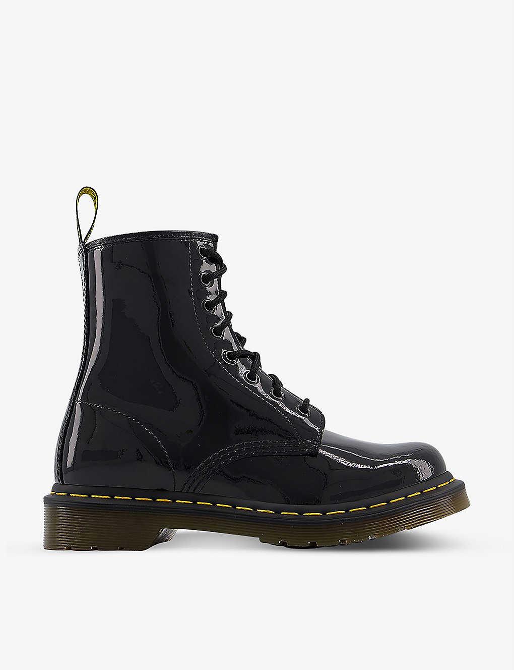 50f0ce4338 DR. MARTENS - 1460 8-eye patent leather boots | Selfridges.com