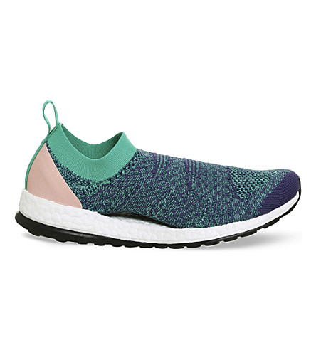 b9beed68f45a7 ADIDAS BY STELLA MCCARTNEY Ultra Boost slip-on knitted trainers (Plum+green+