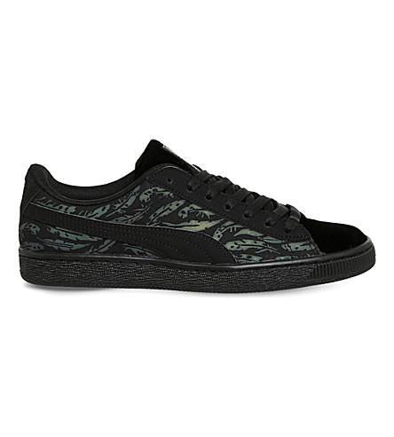 806ff8817e0d ... PUMA Basket Classic leaf pattern trainers (Swan+black+black.  PreviousNext