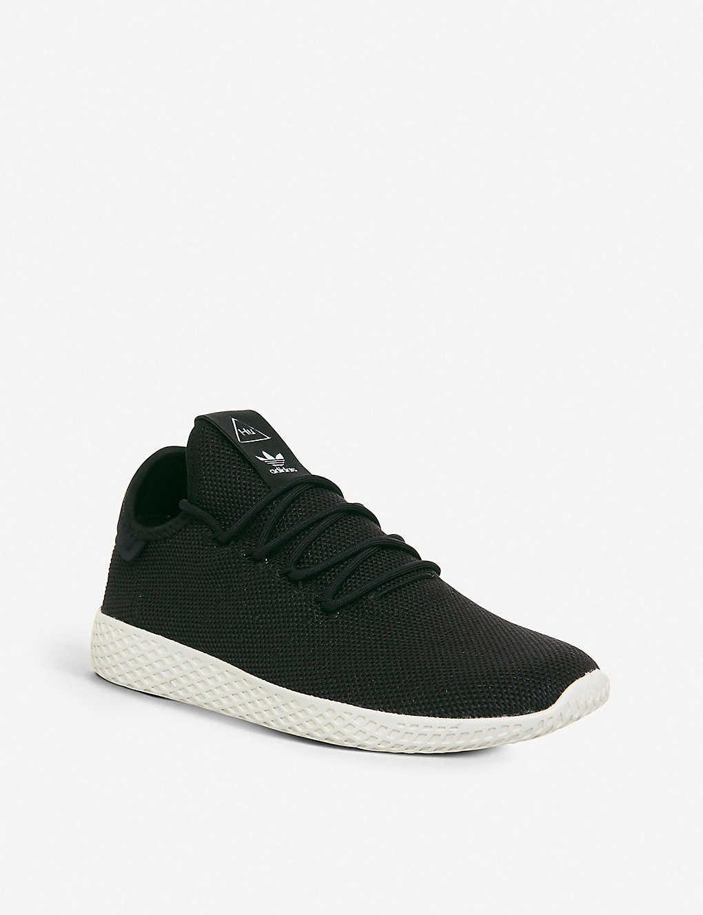f1d76d87e ... adidas x Pharrell Williams Tennis Hu knit trainers - Core black ...