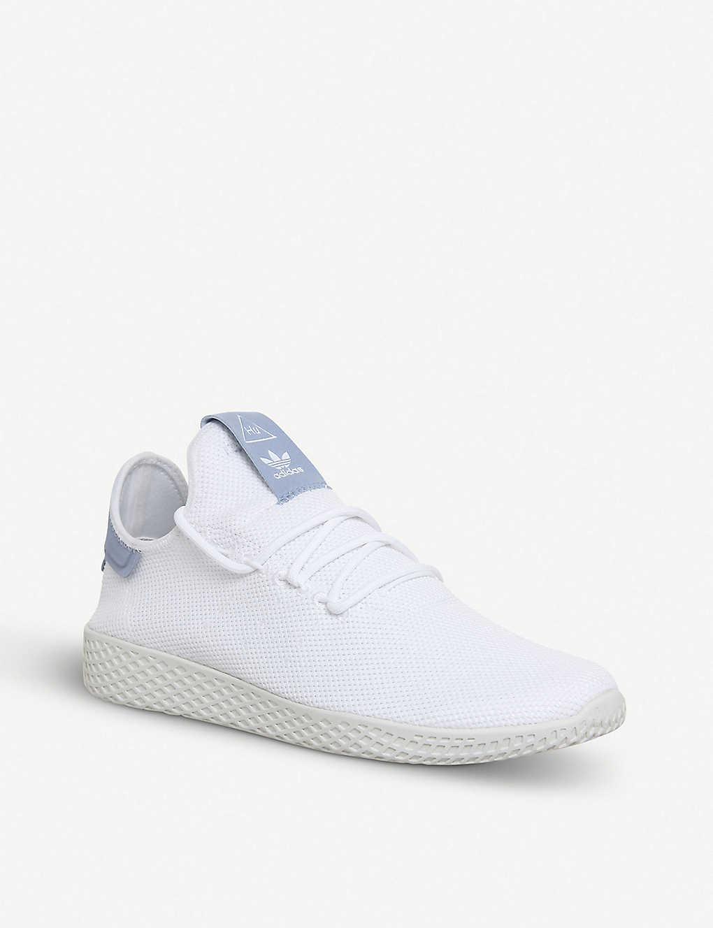 8aac10ece2d74 ... Pharrell Williams Tennis Hu mesh trainers - White white blue ...