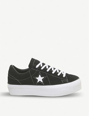b201ed80f910 All Star low-top leather sneakers. CONVERSE One Star platform sneakers
