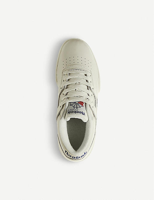 REEBOK Workout Ripple leather trainers