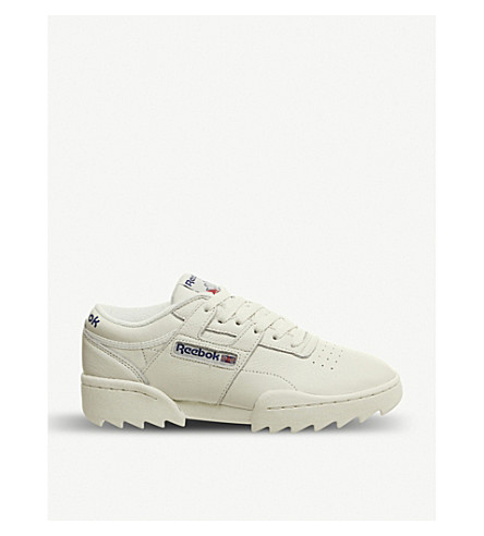 ede04d0a5eae ... REEBOK Workout Ripple leather trainers (Chalk+royal+red. PreviousNext