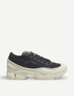 ADIDAS X RAF SIMONS Ozweego III leather and mesh trainers