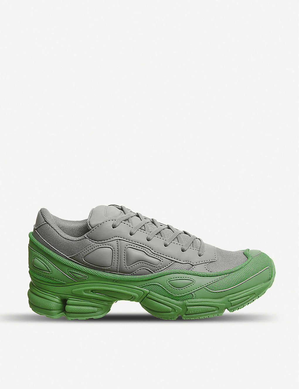 d3de60f74 ADIDAS X RAF SIMONS - Ozweego III leather and mesh trainers ...