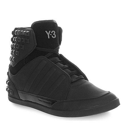 ed30a9d93f104 ADIDAS Y3 Honja high (Black+studded