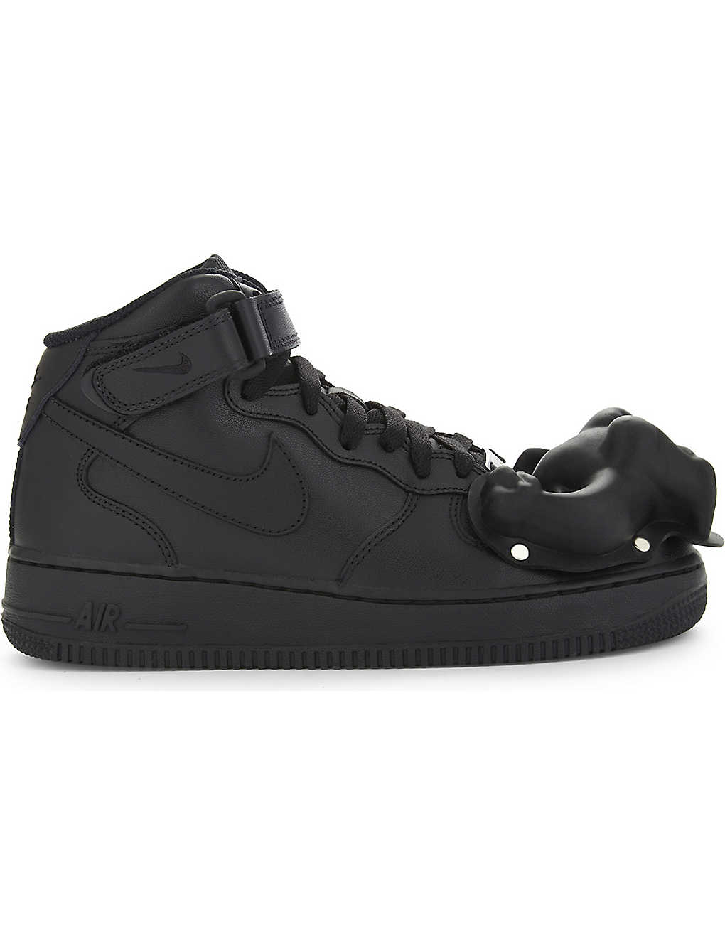 COMME DES GARCONS: Dinosaur Air Force 1 leather high-top trainers