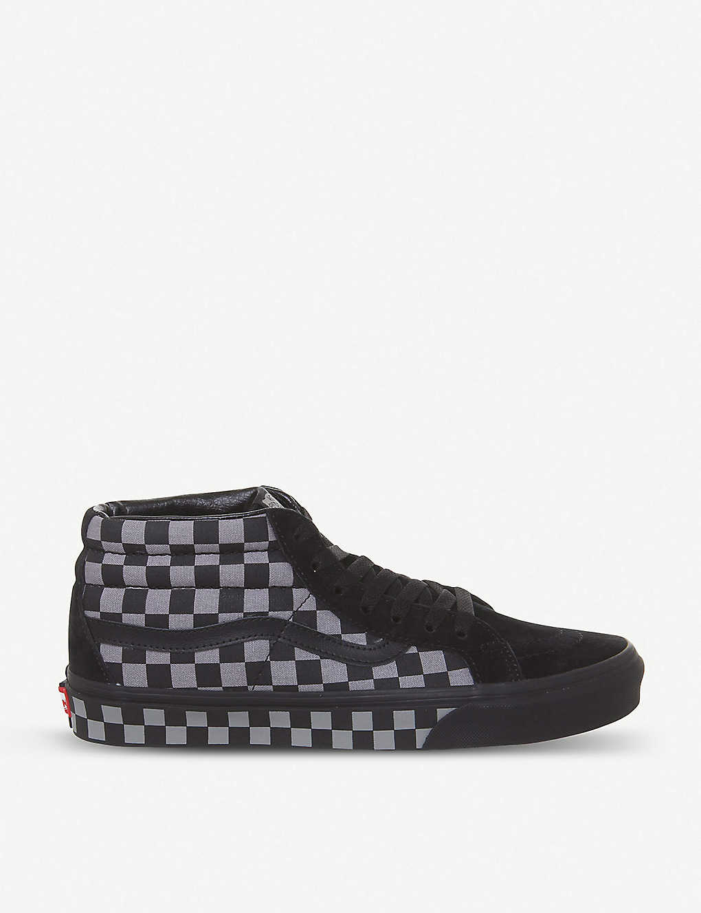 a1efe184eb0025 Vans SK8-mid reissue mid-top check canvas trainers - Black frost checker ...