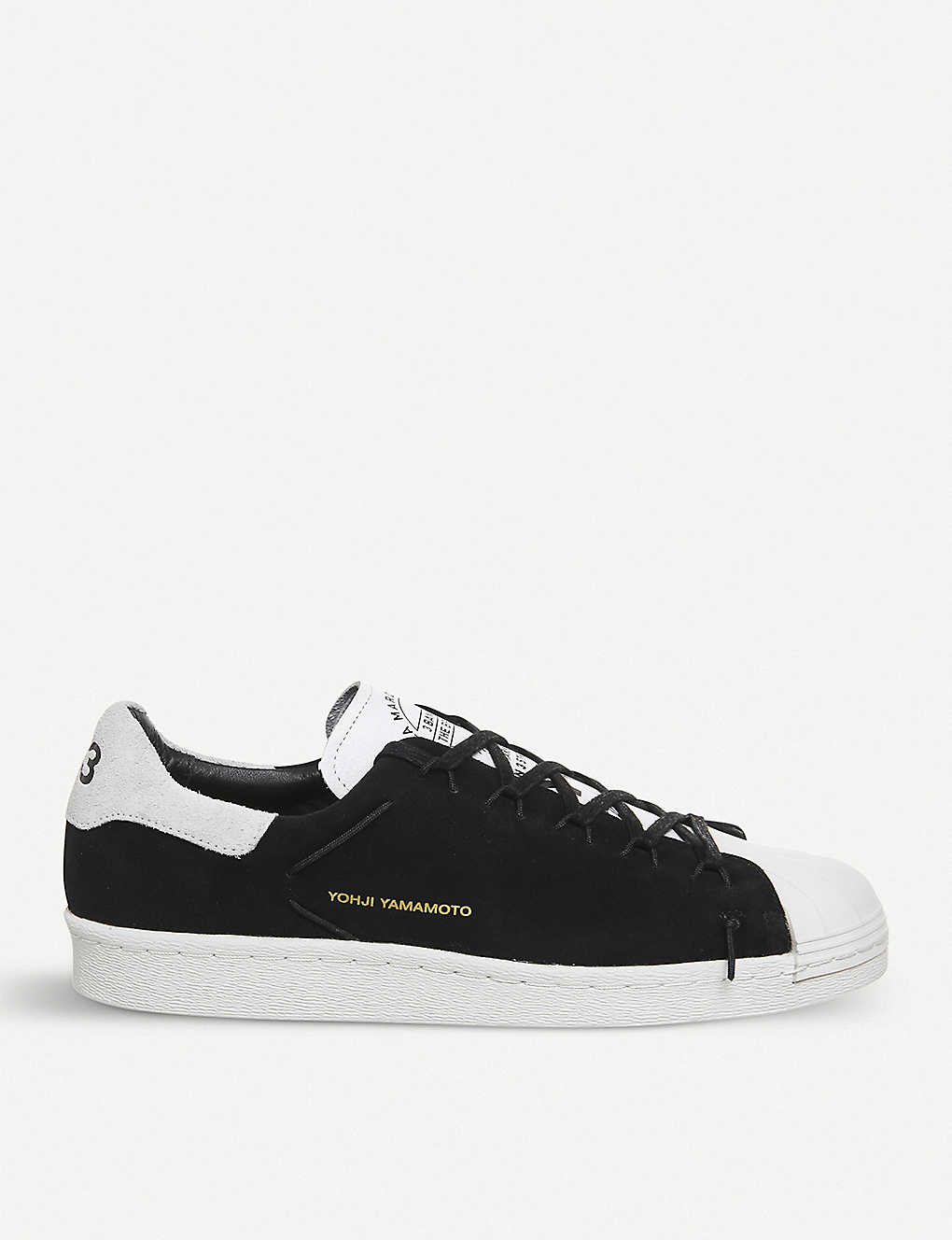 01286985c79b Y-3 Superstar Knot suede low-top trainers - Black white ...
