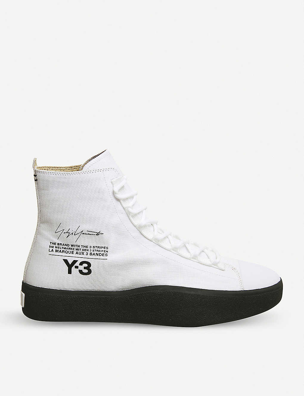 0fbad1df1677b Y-3 Bashyo suede high-top trainers - White black sole ...