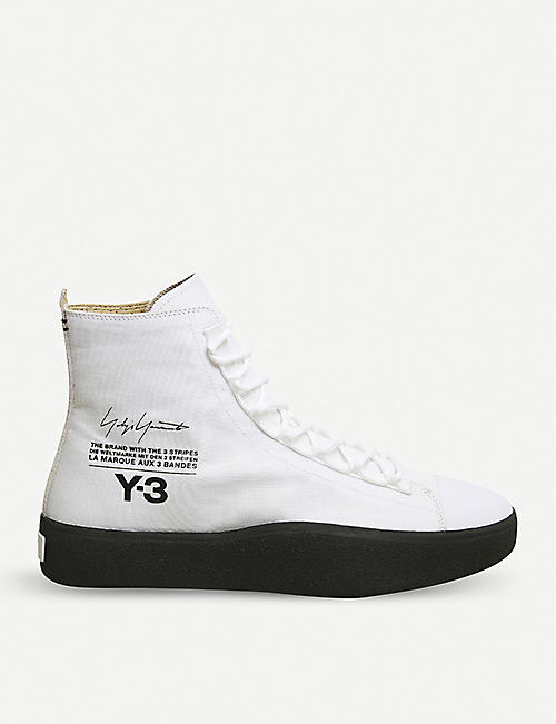 1aa2db3e93121 ADIDAS Y3 Y-3 Bashyo suede high-top trainers