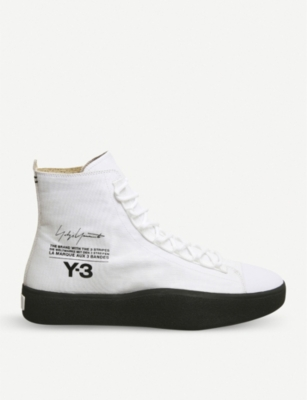 36ffec87cefd ADIDAS Y3 - Y-3 Bashyo suede high-top trainers