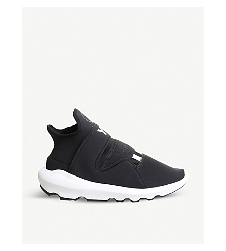 4a1376d51db9 ... ADIDAS Y3 Y-3 Suberou neoprene and leather trainers (Black+white.  PreviousNext