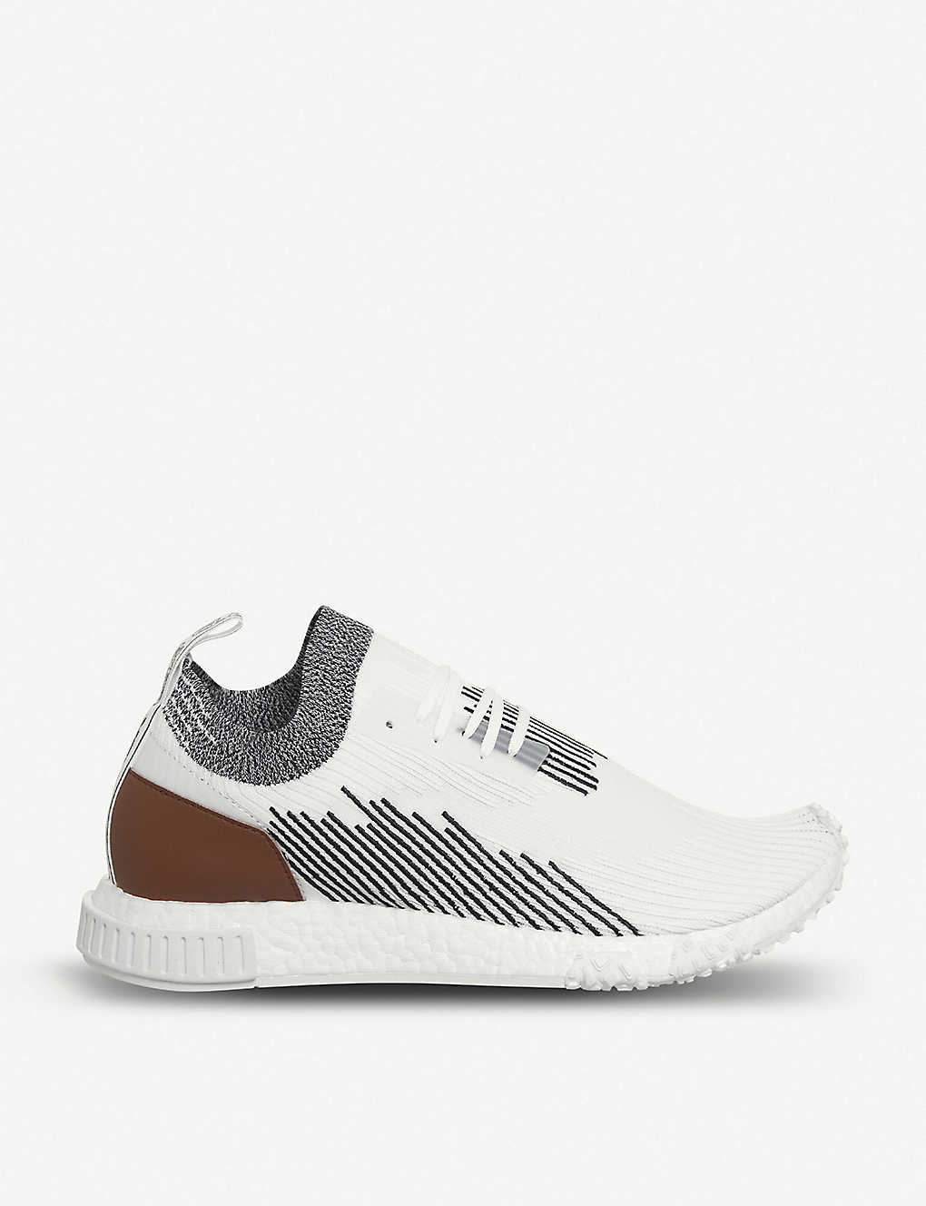 415513ab16981 NMD Racer Primeknit and leather trainers - Monaco red black ...