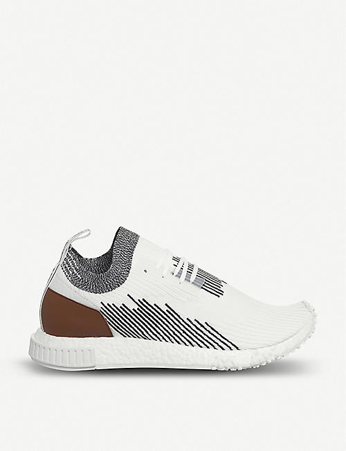brand new 6d3d3 9c2ce ADIDAS - NMD Racer Primeknit and leather trainers  Selfridge