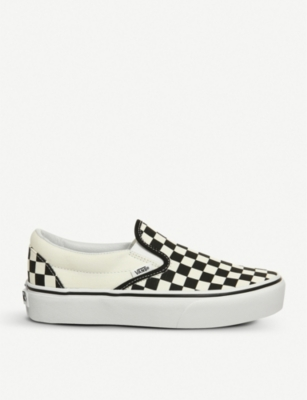 VANS Classic canvas platform slip-on trainers