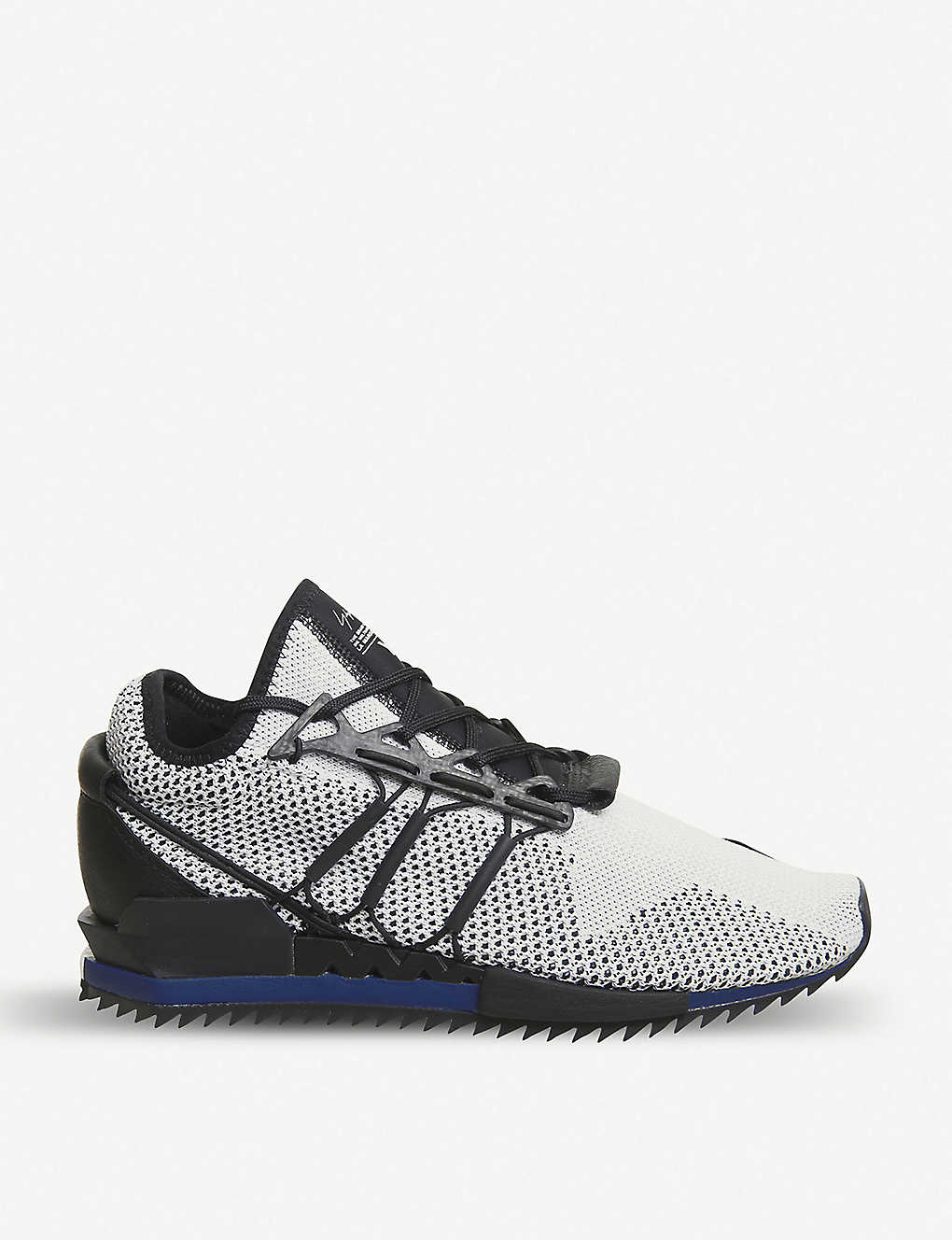 d3b3a00221190 ADIDAS Y3 - Y-3 Harigane Primeknit and leather trainers