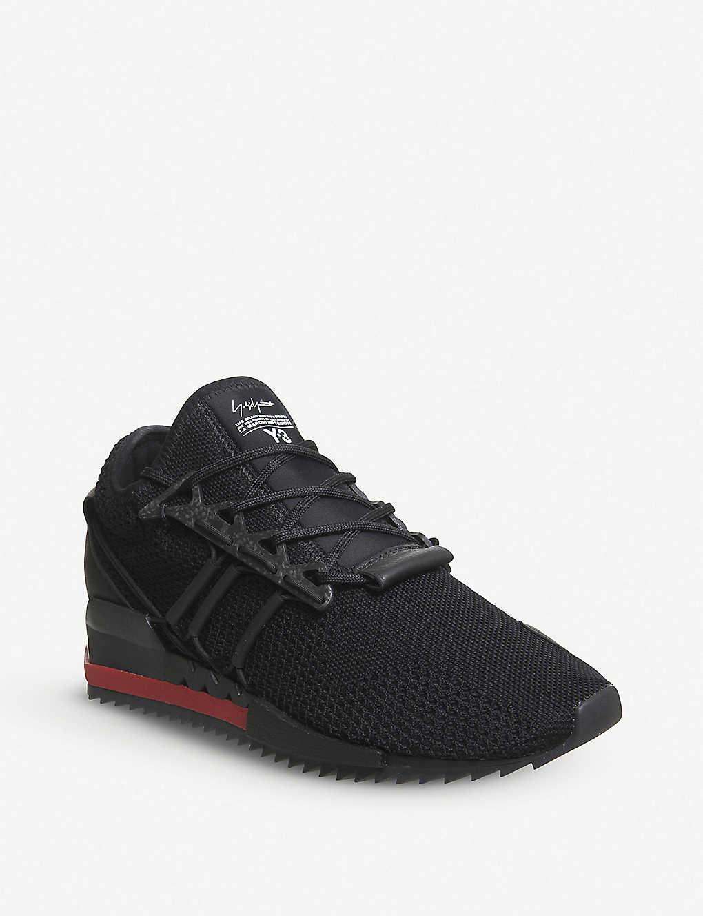 feca7c0cb1ae8 ADIDAS Y3 - Y-3 Harigane Primeknit and leather trainers