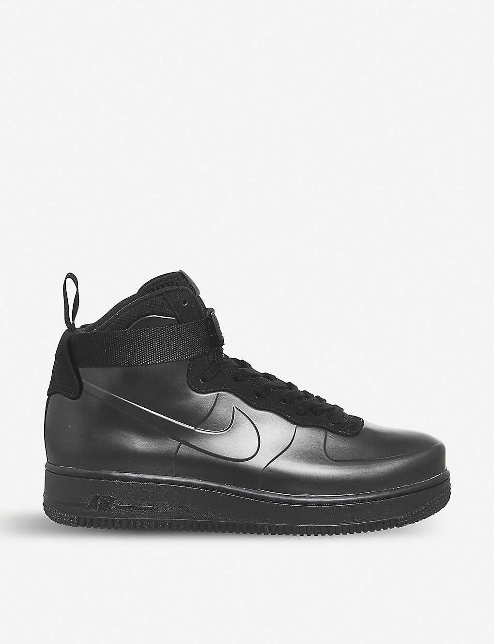 super popular a3318 4dd89 NIKE - Air Force 1 Foamposite Cupsole faux-leather trainers ...