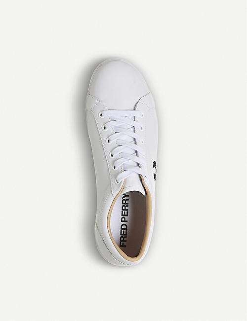 FRED PERRY Baseline leather tennis trainers