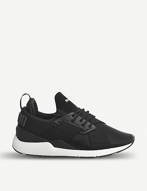 835a1d2afa9a PUMA Muse X-trap satin trainers
