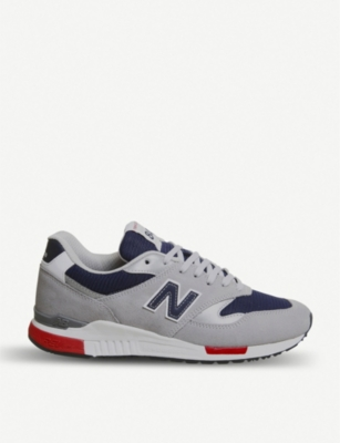 NEW BALANCE 840 suede and mesh trainers