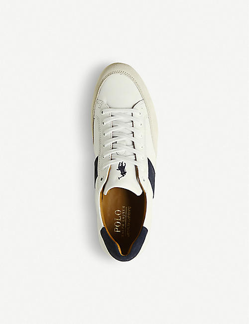 POLO RALPH LAUREN Price leather and suede trainers
