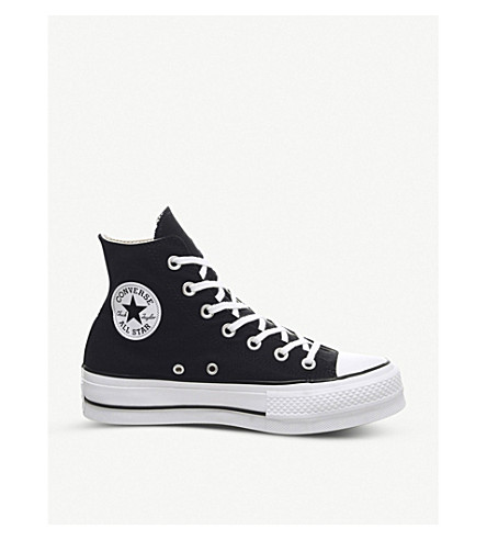 ... CONVERSE Chuck Taylor All Star Lift high-top flatform sneakers (Black+ white. PreviousNext 65bc3293a