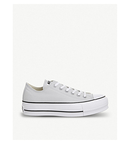 7a05accbb45f CONVERSE Chuck Taylor All Star Lift canvas platform sneakers (Mouse +white+black