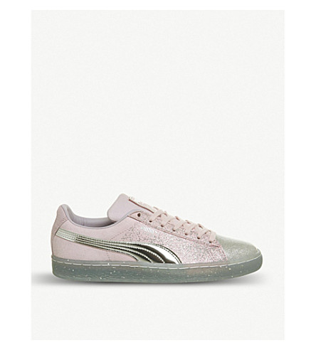 88a5b7de277 ... PUMA Puma x Sophia Webster Suede glitter princess trainers  (Orchid+hush+silver. PreviousNext